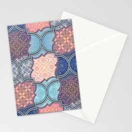 Modern Moroccan Mosaic Tile Stationery Cards
