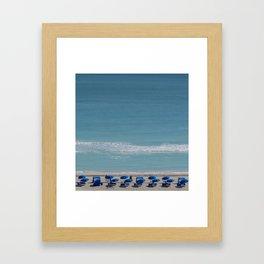 umbrella beach Framed Art Print