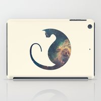 space cat iPad Cases featuring Space Cat by Kit & Cat