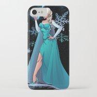 frozen elsa iPhone & iPod Cases featuring Frozen - Elsa by J Skipper