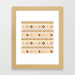 Kilim in mustard and sand Framed Art Print