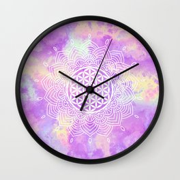Flower Of Life (Soft Whispers) Wall Clock