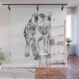 Shy Hyena, Inktober 2017 Wall Mural