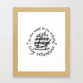 Hook Framed Art Print