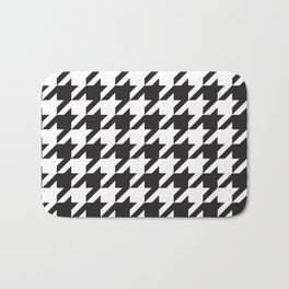 Houndstooth (Black and White) Bath Mat