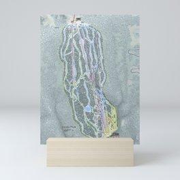 Sandia Peak Resort Trail Map Mini Art Print