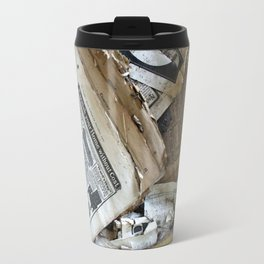 Old Newspaper Left to the Elements...Furnish Your Home in Style Travel Mug