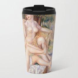 Les Grandes Baigneuses (The Large Bathers) by Auguste Renoir Travel Mug