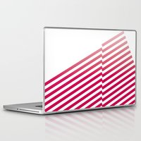 bands Laptop & iPad Skins featuring Red Bands by blacknote