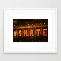 skate Framed Art Prints featuring Skate by Errne