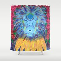 grateful dead Shower Curtains featuring Grateful by SRC Creations