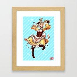 Happy go-lucky! Framed Art Print