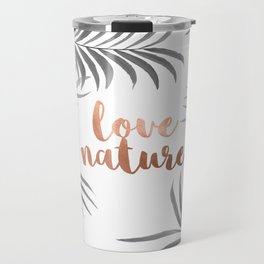 Silver Palm Leaves Travel Mug