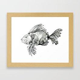 Trojan Fish Framed Art Print