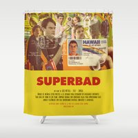 greg guillemin Shower Curtains featuring Superbad - Greg Mottola by Smart Store