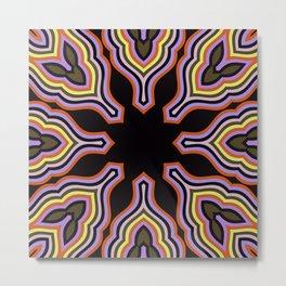 The Kaleidoscope Affect Digital Design Pattern Print Metal Print