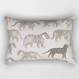 Gray Tigers Rectangular Pillow
