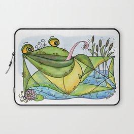 Frog with curls – Lockenfrosch Laptop Sleeve