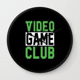 video Game club Wall Clock