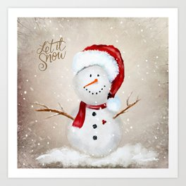 Let it Snow Art Print