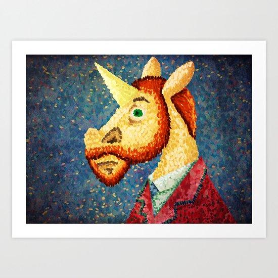 Pointillism Unicorn Art Print