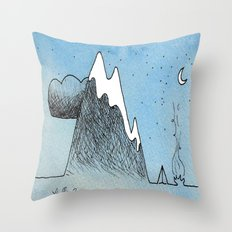 Cloud Mountain Campsite Throw Pillow