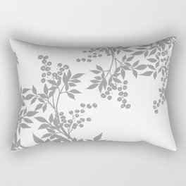 LEAF TOILE GRAY AND WHITE PATTERN Rectangular Pillow