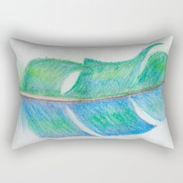 Bright Feather Rectangular Pillow