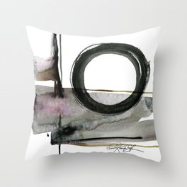 Enso Abstraction No. 112 by Kathy morton Stanion Throw Pillow