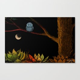 Lonely owl Canvas Print