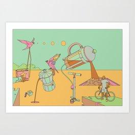 Coffee and Bicycles II Art Print