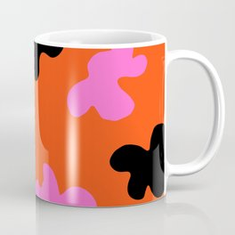 Grell 003 / A Dazzling 70's Pattern Of Black & Pink Spots Coffee Mug