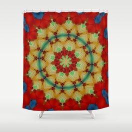 Parasol Kaleidoscope Shower Curtain