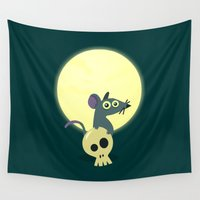 rat Wall Tapestries featuring Moon Rat by AnishaCreations