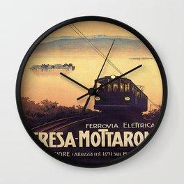 Vintage poster - Stresa-Mottarone Wall Clock