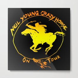neil young crazy horse gold Metal Print