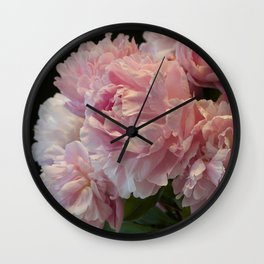 Pink Peony Passion Wall Clock