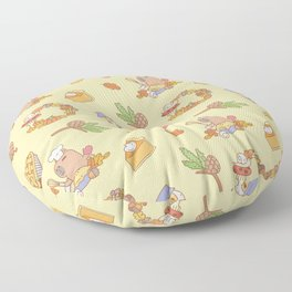 Bubu the Guinea pig, Fall and Pie Floor Pillow