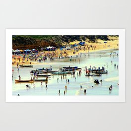 Rowing Regatta Art Print