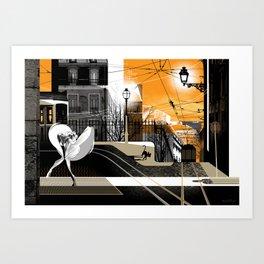 Lisbon at Dawn Art Print