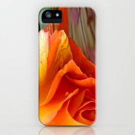 492 - Abstract Orange and Yellow Rose iPhone Case
