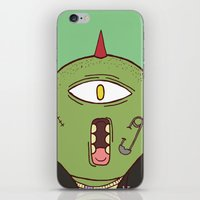 punk iPhone & iPod Skins featuring Punk by The Bad Artist