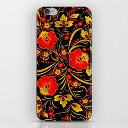 Russian khokhloma iPhone Skin