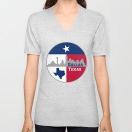 Dallas Texas Skyline Unisex V-Neck