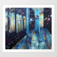 Underneath NYC: Wall St on the 2/3 Art Print