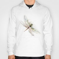 dragonfly Hoodies featuring dragonfly by tatiana-teni