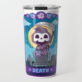 Death - Cute Kawaii Anime Reaper Tarot Card Shirt Travel Mug