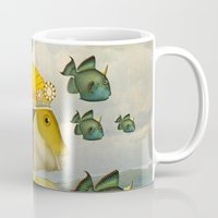 mermaid Mugs featuring MERMAID by Julia Lillard Art