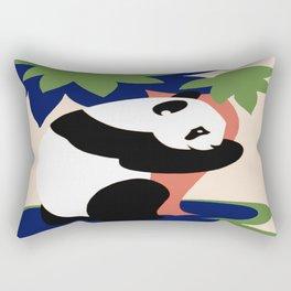Vintage Panda Tree Hugger Rectangular Pillow