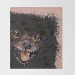 Black Pomeranian Throw Blanket